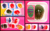 Can You Imagine That Gummy Brains Candy Label