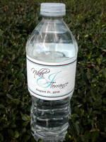 Nikki & Terrance Wedding Water Bottle Label