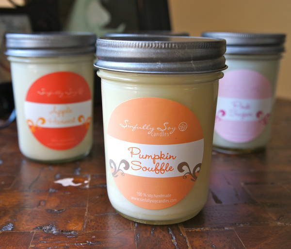 sinfully soy candle labels - customer ideas