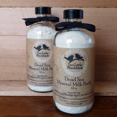 Mineral Milk Bath Labels