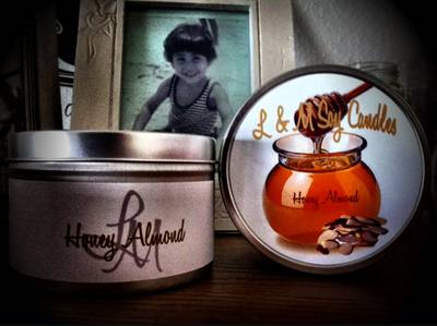 Honey Almond 8 oz Tin Labels