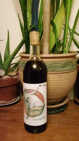 Blue Berry Desert Wine Label