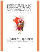 Organic Peruvian Coffee Label Front Side