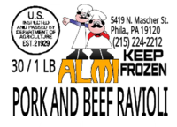 ALMIs Pork and Beef Wholesale Box Labels