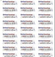 Onlinevacshop.com Logo Labels