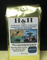 H&H Coffee Company Label For Coffee Bags