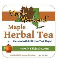 Maple Weekend Tea Labels