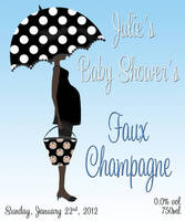 Baby Shower Faux Champagne Labels