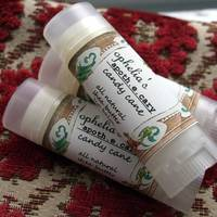 Ophileas Apothecary Cand Cane Lip Balm Label