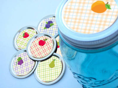 Canning Crafts Fruit Jar Label Tops