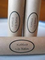Kahlua Lip Balm Labels by Faith, Soaps & Love