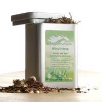 Spirit Horse Herbals Green Tea Label
