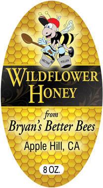 Bryan's Better Bees - honey label