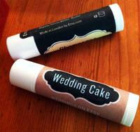 Etsy Wedding Cake Lip Balm Labels