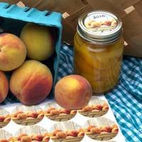Canning Crafts Peach Jar Label