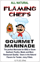 flaming chef label