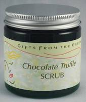 Gifts From the Earth Chocolate Truffle Body Scrub Labels