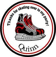 Birthday skating label