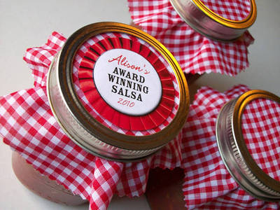 Canning Crafts Salsa Jar Label