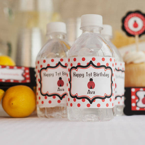 Birthday Party Decorations - Water Bottle Labels