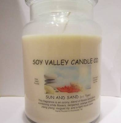 soy candle label