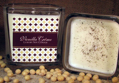 Natural Candle Pastries Vanilla Creme Candle Labels
