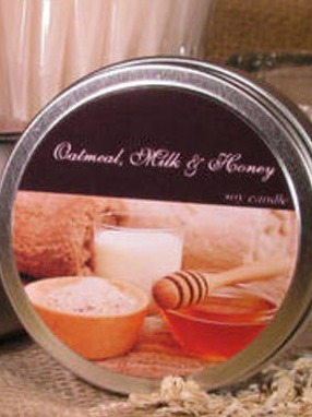 Natural Candle Pastries Travel Tins Label