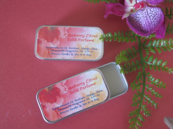 Solid Perfume In Slidey Tin With Label