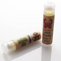 Sasha's Hand-Poured Lip Balm labels