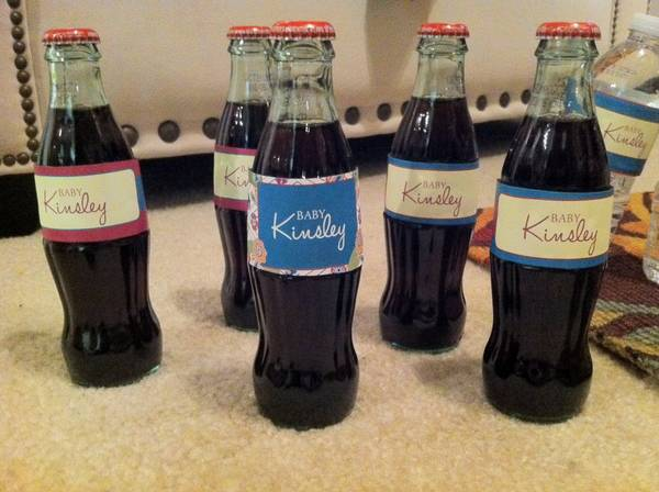 Baby Shower Old Fashion Coke Bottle Labels