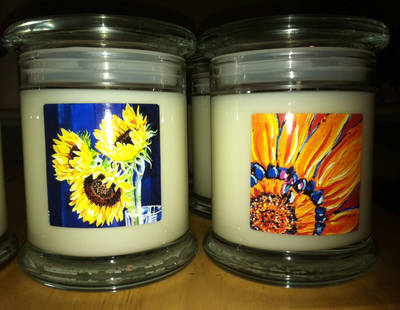 Soy Candle Art Candle Labels