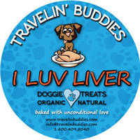 Travelin' Buddies I Love Liver Dog Treats Label