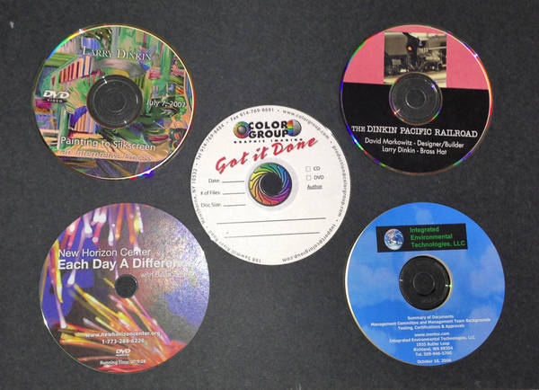 Printed CD and DVD Labels
