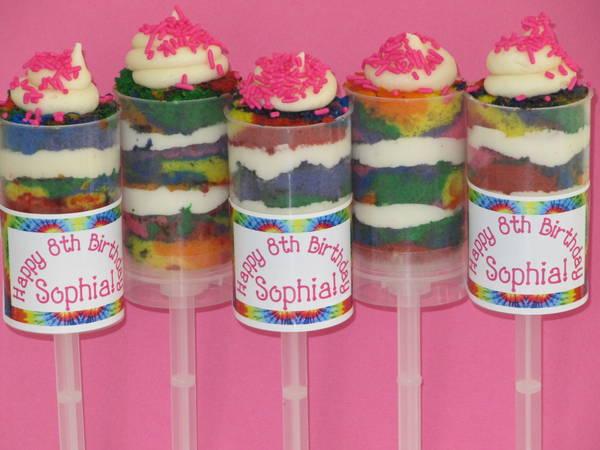 push pop cake labels  - customer ideas