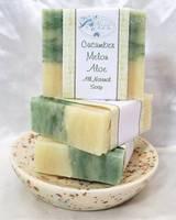 Soap Band Labels for Cucumber Melon Aloe Soap Bars