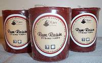 Round Votive Candle Labels - Rum Raisin Votives