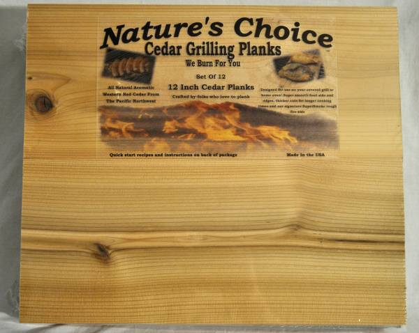 Cedar Plank Labels by Nature's Choice Grilling Planks