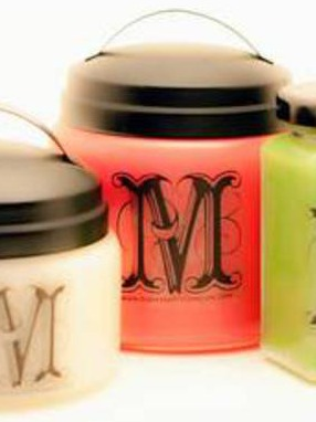 Monogrammed Candle Labels by Make Scents