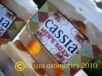 Cassia Aromatics Mens Soap Label