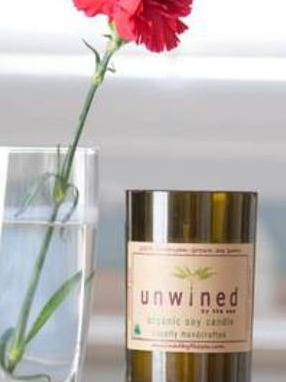 Soy Wax Candle Label by Unwined by the Sea