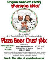 Mamma Mia! Beer Crust Pizza Labels