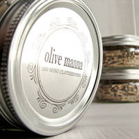 Olive Manna Clothespins Container Label