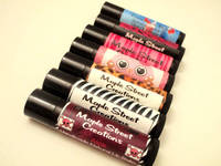 Black Lip Balm Tube Labels