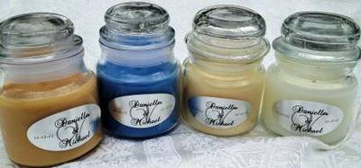 Silver Candle Jar Labels