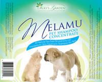Melamu Pet Shampoo Labels
