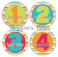 Monthly Milestone Onesie Sticker Labels