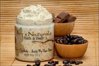 Mocha Chocolatta Scrub Me Down Brown Clear Container Labels