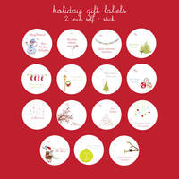 Holiday Gift Tag Labels