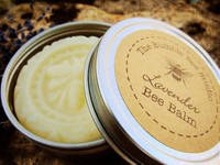 Tin Container Round Lid Labels Designed by The Bumble Bee Studio's BEE balm
