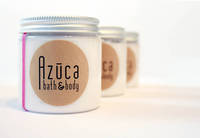 Brown Kraft Labels On Clear Lotion Jar by Azuca Bath & Body